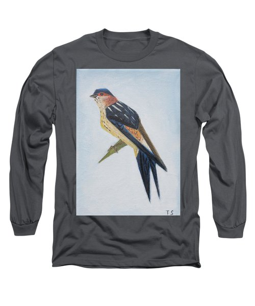 Red-rumped Swallow Long Sleeve T-Shirt