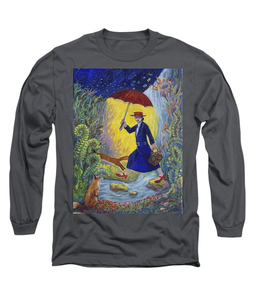 Red Shoes Mary Poppins Long Sleeve T-Shirt