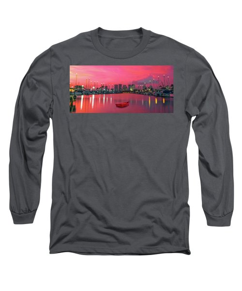 Red Skies At Night Long Sleeve T-Shirt by James Roemmling