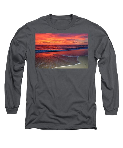 Red Sky In Morning Long Sleeve T-Shirt