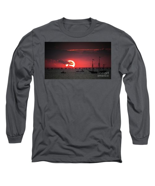 Red Sky Long Sleeve T-Shirt by Scott and Dixie Wiley