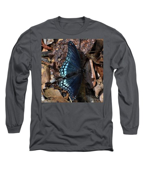 Long Sleeve T-Shirt featuring the photograph Red Spotted Purple Admiral by Skip Willits