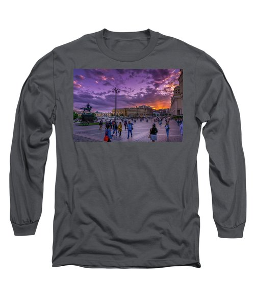 Red Square At Sunset Long Sleeve T-Shirt