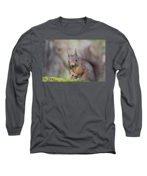 Red Squirrel - Scottish Highlands #26 Long Sleeve T-Shirt