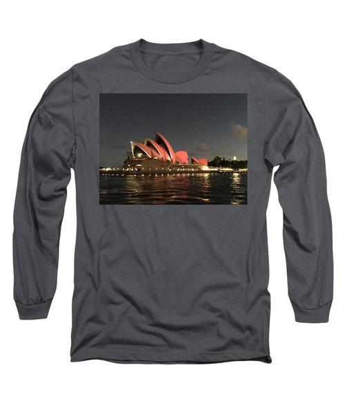 Red Sydney Opera House Long Sleeve T-Shirt