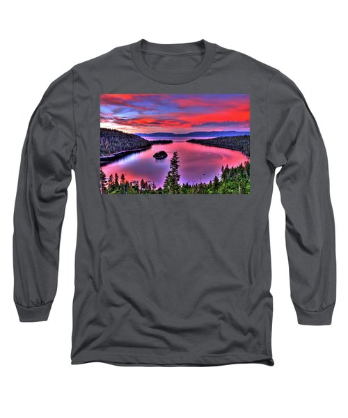 Red Tahoe Long Sleeve T-Shirt by Scott Mahon