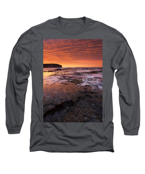 Red Tides Long Sleeve T-Shirt by Mike  Dawson