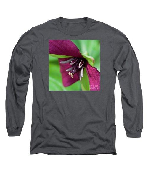 Red Trillium.. Long Sleeve T-Shirt by Nina Stavlund