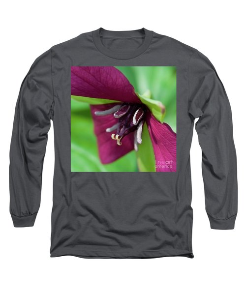 Red Trillium.. Long Sleeve T-Shirt