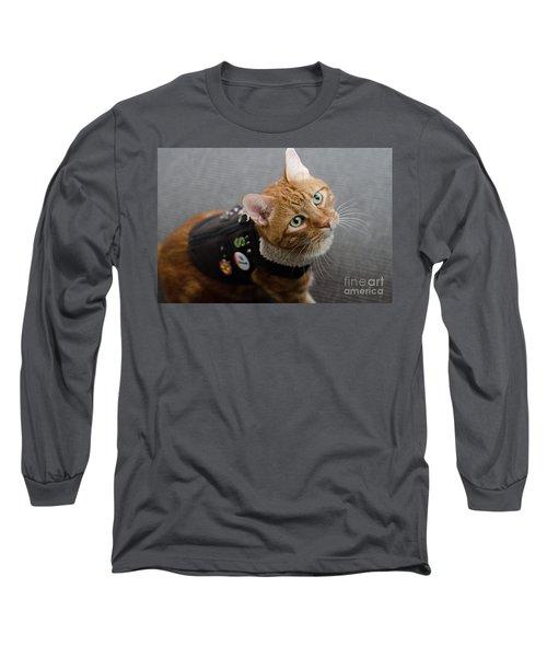 Red Tubby Cat Tabasco Jacket Long Sleeve T-Shirt
