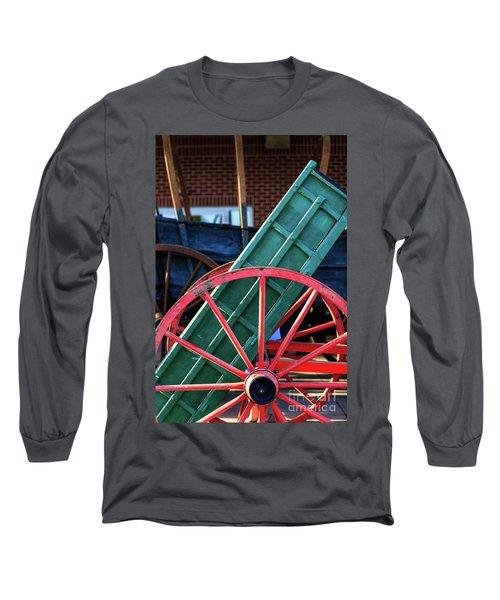 Red Wagon Wheel Long Sleeve T-Shirt