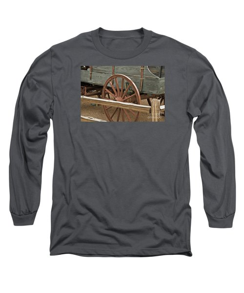 Long Sleeve T-Shirt featuring the photograph Red Wagon Wheel by Kirt Tisdale