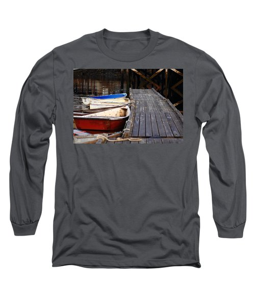 Red, White, And Blue Dingys Long Sleeve T-Shirt