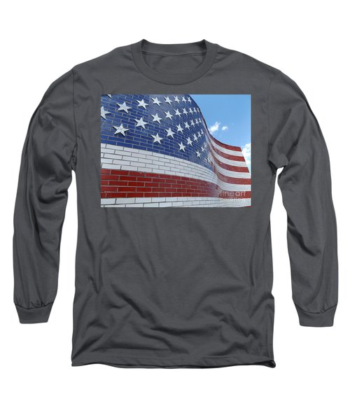 Red White And Brick Long Sleeve T-Shirt by Erick Schmidt