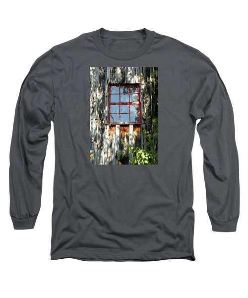 Long Sleeve T-Shirt featuring the photograph The Red Window by Sandi OReilly