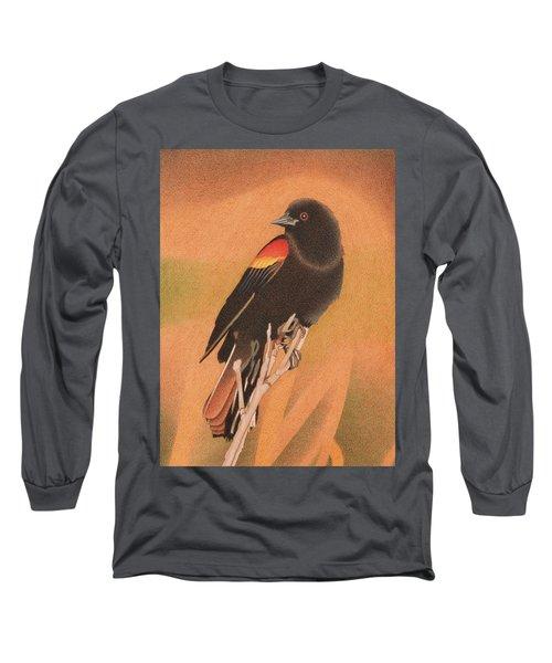 Red-winged Blackbird 3 Long Sleeve T-Shirt
