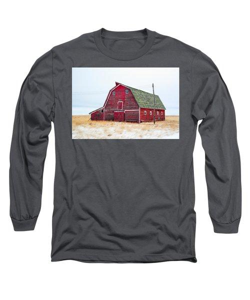 Red Winter Barn Long Sleeve T-Shirt