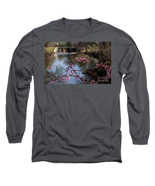 Redbuds And An Old Bridge Long Sleeve T-Shirt