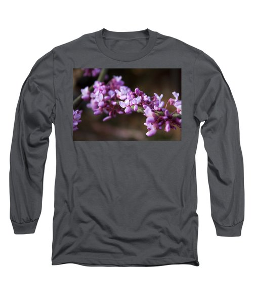 Long Sleeve T-Shirt featuring the photograph Redbuds In March by Jeff Severson