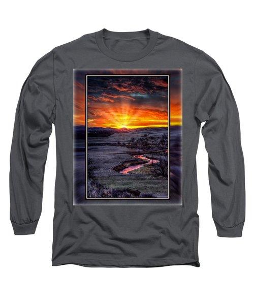 Redwater River Sunrise Long Sleeve T-Shirt