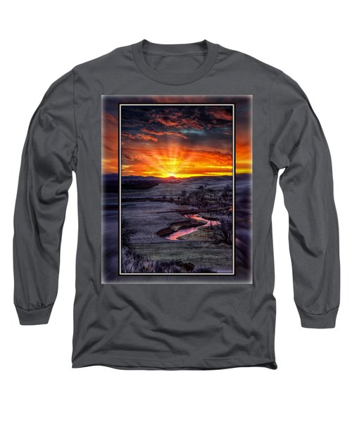 Redwater River Sunrise Long Sleeve T-Shirt