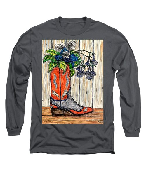 Red,white And Blue Long Sleeve T-Shirt