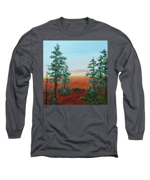 Long Sleeve T-Shirt featuring the painting Redwood Overlook by Roseann Gilmore