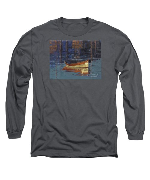 Long Sleeve T-Shirt featuring the painting Sold Reflecting At Day's End by Nancy  Parsons