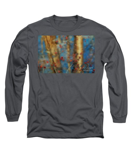 Reflecting Gold Tones Long Sleeve T-Shirt by Elizabeth Dow