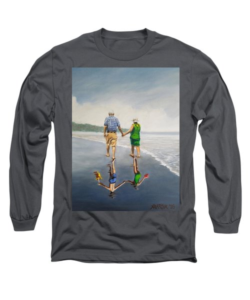 Reflecting On The Past  Long Sleeve T-Shirt by Jason Marsh