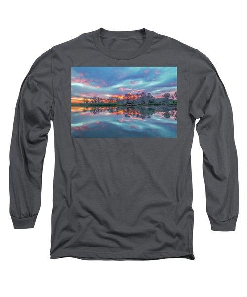Reflection At Sunrise Long Sleeve T-Shirt