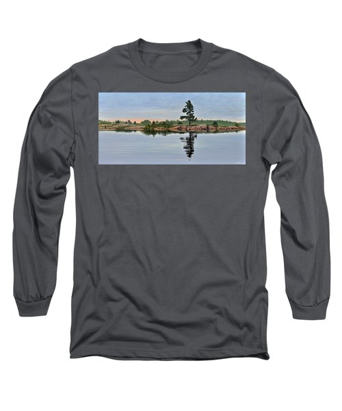 Long Sleeve T-Shirt featuring the painting Reflection On The Bay by Kenneth M Kirsch