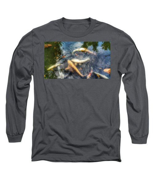 Reflections And Fish 2 Long Sleeve T-Shirt by Isabella F Abbie Shores FRSA