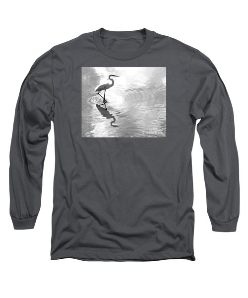 Reflections And Ripples Long Sleeve T-Shirt by Christy Ricafrente