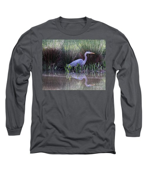 Reflections At Nassau Grove Long Sleeve T-Shirt by Allan Levin