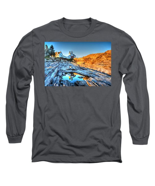 Reflections At Pemaquid Point Long Sleeve T-Shirt