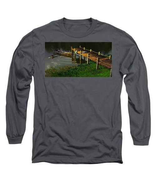 Reflections In A Restless Pond Long Sleeve T-Shirt
