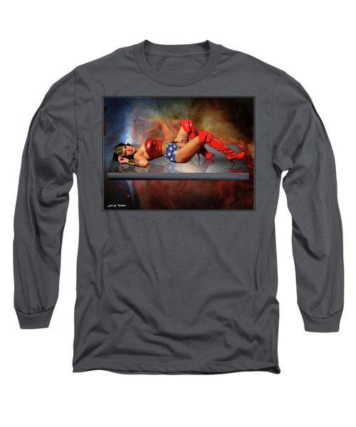 Reflections Of A Wonder Woman Long Sleeve T-Shirt