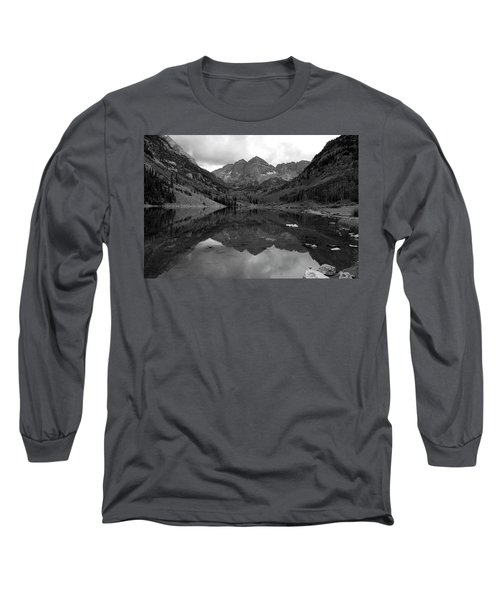 Reflections Of Maroon Bells Long Sleeve T-Shirt