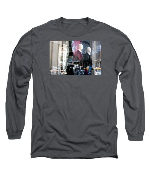 Long Sleeve T-Shirt featuring the photograph Reflections Of New York by Allen Carroll