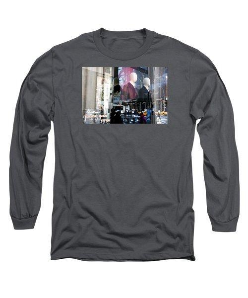 Reflections Of New York Long Sleeve T-Shirt by Allen Carroll