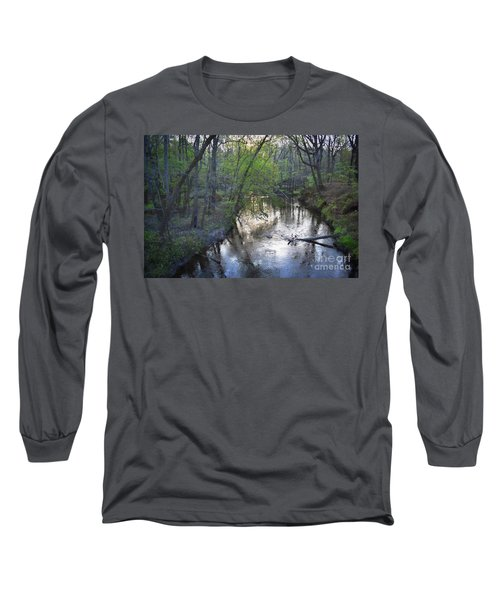 Long Sleeve T-Shirt featuring the photograph Reflections On The Congaree Creek by Skip Willits
