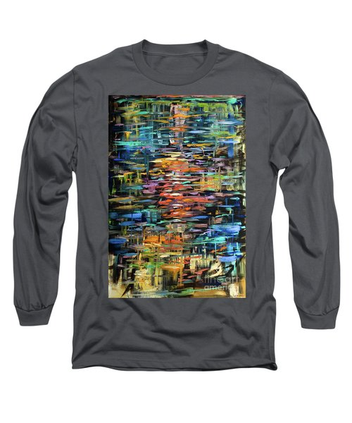 Reflections Rain Long Sleeve T-Shirt by Linda Olsen