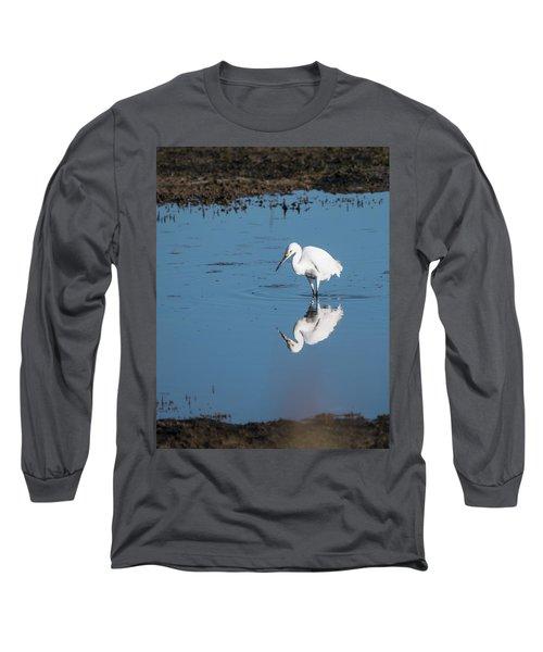 Reflections White Egret Long Sleeve T-Shirt