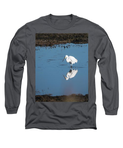 Reflections White Egret Long Sleeve T-Shirt