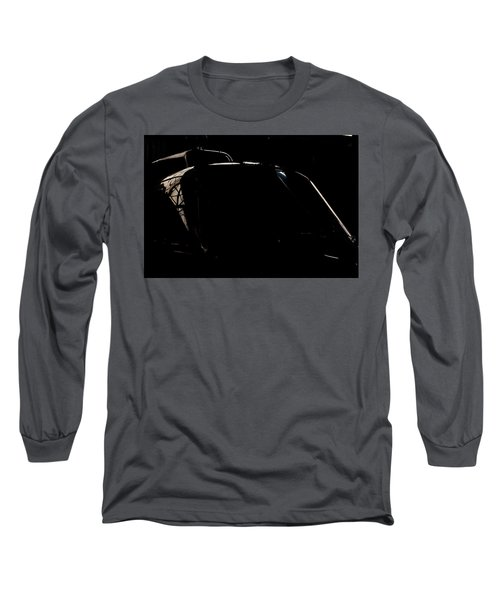 Reflective Helicopter Outline Long Sleeve T-Shirt by Paul Job