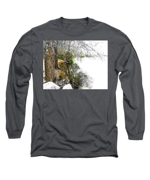 Reflective Trees Long Sleeve T-Shirt