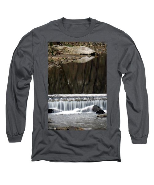 Reflexions And Water Fall Long Sleeve T-Shirt by Dorin Adrian Berbier