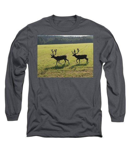 Reindeers On Swedish Fjeld Long Sleeve T-Shirt