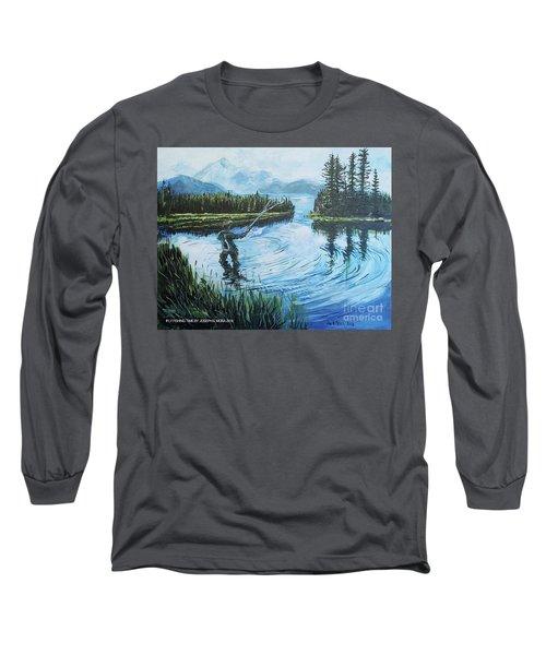 Relaxing @ Fly Fishing Long Sleeve T-Shirt
